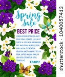 spring time sale poster of... | Shutterstock .eps vector #1040057413