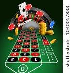 casino roulette table...   Shutterstock .eps vector #1040057833
