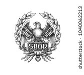 spqr symbol of roman empire... | Shutterstock .eps vector #1040062213