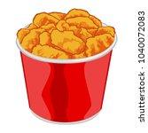 bucket of hot chicken wings | Shutterstock .eps vector #1040072083
