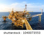 offshore oil and gas central... | Shutterstock . vector #1040073553