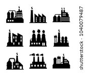 factory icon set   Shutterstock .eps vector #1040079487