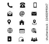 contact us icons. simple vector ... | Shutterstock .eps vector #1040099047