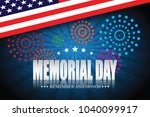 memorial day. remember and...   Shutterstock .eps vector #1040099917