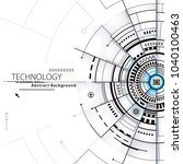 technology composition... | Shutterstock .eps vector #1040100463