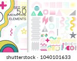 set of 50 shiny colorful... | Shutterstock .eps vector #1040101633