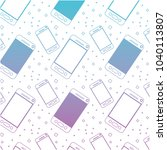 smartphone device pattern... | Shutterstock .eps vector #1040113807