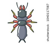 poison insect icon. cartoon... | Shutterstock .eps vector #1040117587