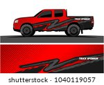 truck and vehicle graphic... | Shutterstock .eps vector #1040119057