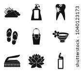 hygienic procedure icons set.... | Shutterstock .eps vector #1040123173