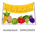 cute vegetable cartoon... | Shutterstock . vector #1040135653