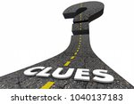 clues road looking for answers... | Shutterstock . vector #1040137183