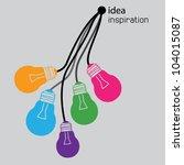 light bulb idea vector...   Shutterstock .eps vector #104015087