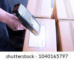 business and logistic  hand of... | Shutterstock . vector #1040165797
