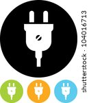 electric plug   vector icon... | Shutterstock .eps vector #104016713
