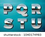 vector realistic chrome letters ... | Shutterstock .eps vector #1040174983