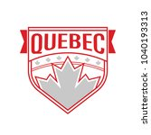 a canadian provincial crest...   Shutterstock .eps vector #1040193313