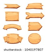 wooden label set isolated on... | Shutterstock . vector #1040197807