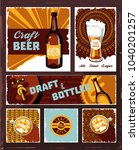 vintage craft beer banner set... | Shutterstock . vector #1040201257
