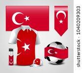 turkey flag collection vector | Shutterstock .eps vector #1040209303