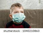 portrait of a boy  a child in a ... | Shutterstock . vector #1040210863