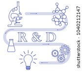 research and development... | Shutterstock .eps vector #1040212147