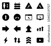 solid vector icon set  ... | Shutterstock .eps vector #1040219707