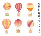 set of vector illustration of... | Shutterstock .eps vector #1040219737