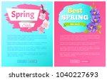 best spring big sale... | Shutterstock .eps vector #1040227693