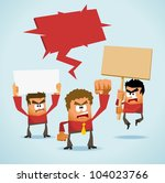 Protest Demonstration. Neat Vector illustration - stock vector