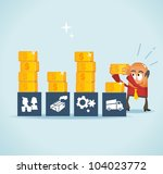 Analysing cost and financial planning. Vector illustration - stock vector