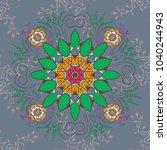 orient  symmetry lace ... | Shutterstock .eps vector #1040244943