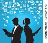 businessman and businesswoman...   Shutterstock .eps vector #104024573