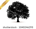 tree silhouette isolated on... | Shutterstock .eps vector #1040246293