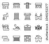 flat vector icon set   store... | Shutterstock .eps vector #1040252377