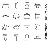 flat vector icon set   purse... | Shutterstock .eps vector #1040252527