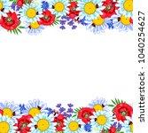 flower field. frame with field... | Shutterstock .eps vector #1040254627