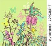 vector illustration of blooming ...   Shutterstock .eps vector #104026547