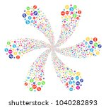 multi colored dollar coin... | Shutterstock .eps vector #1040282893