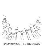gesture of the hand sketch | Shutterstock .eps vector #1040289607