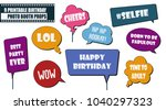 photo booth props set for... | Shutterstock .eps vector #1040297323