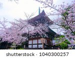 kyoto japan 04 07 2017 ... | Shutterstock . vector #1040300257