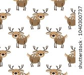 seamless pattern with cartoon... | Shutterstock .eps vector #1040300737