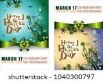 abstrackt of st.patrick's day... | Shutterstock .eps vector #1040300797