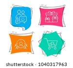 set of business targeting ... | Shutterstock .eps vector #1040317963