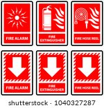 symbols sign for fire alarm... | Shutterstock .eps vector #1040327287