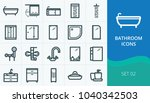 bathroom and sanitary icons set.... | Shutterstock .eps vector #1040342503