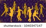retro party. vintage style.... | Shutterstock .eps vector #1040347147