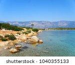 aegean sea coast   paradise on...   Shutterstock . vector #1040355133