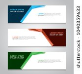 design banner. abstract... | Shutterstock .eps vector #1040359633